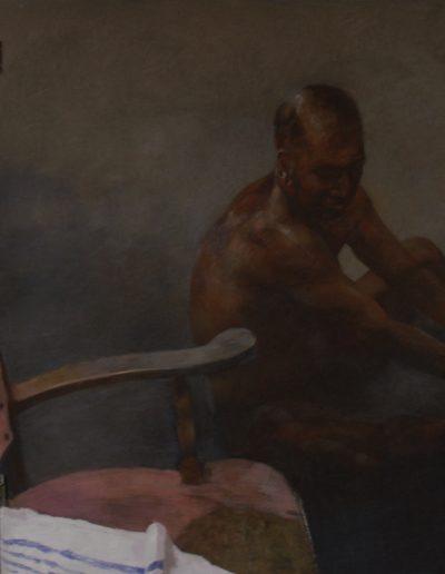 Homme au fauteuil rose