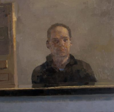 Mirror with a self-portrait