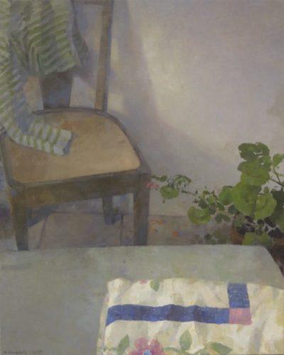 Composition à la chaise et géranium